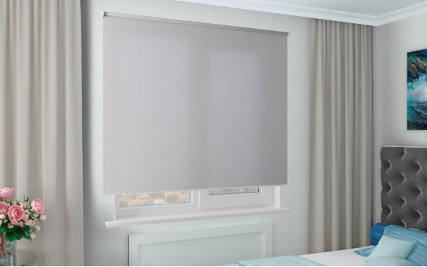 Рулонные шторы MGII СИДЕ 1608 цв.св.серый