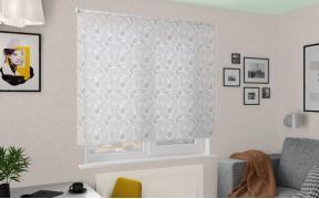 Рулонные шторы MGII БЛЮЗ 0225 цв.белый, 200 см