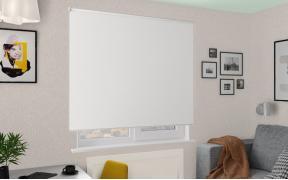 Рулонные шторы MGII КРИС BLACK-OUT 0225 цв.белый, 220 см