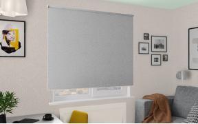 Рулонные шторы MGII ОСЛО BLACK-OUT 1608 св. серый, 220 см