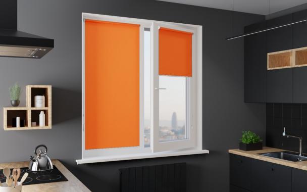 Рулонные шторы MINI АЛЬФА 4290 цв.оранжевый