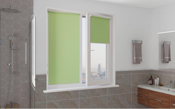 Рулонные шторы MINI АЛЬФА BLACK-OUT 5850 цв.зелёный