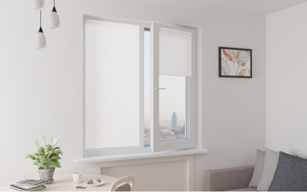 Рулонные шторы MINI АЛЬФА 250 0225 цв.белый