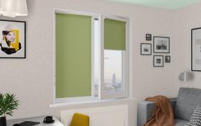 Рулонные шторы MINI ПЕРЛ 5850 цв.зеленый, 250 см