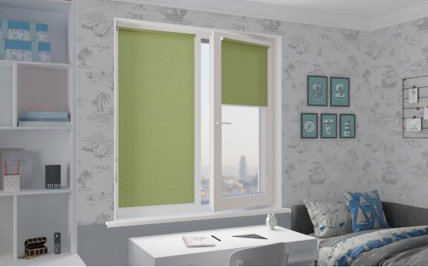Рулонные шторы MINI ПЕРЛ 5850 цв.зеленый