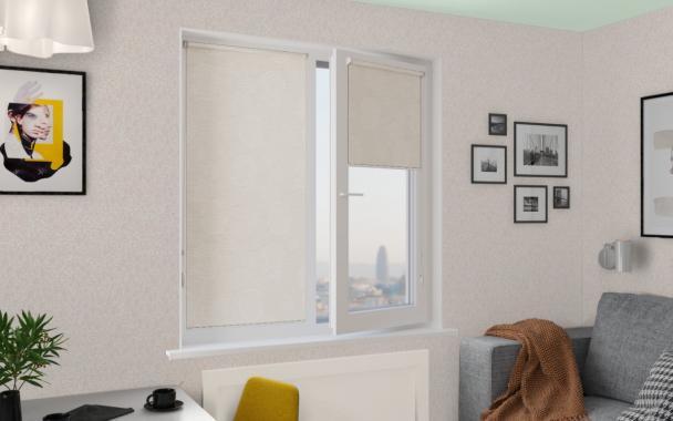 Рулонные шторы MINI ОРБИТА BLACK-OUT 0225 цв.белый