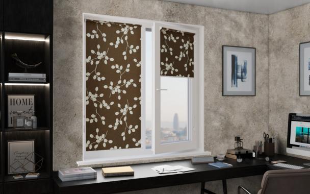 Рулонные шторы MINI АЛЛЕЯ 2871 цв.тём.коричневый