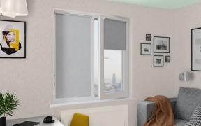 Рулонные шторы MINI ЛИНА BLACK-OUT 1608 св. серый, 220 см
