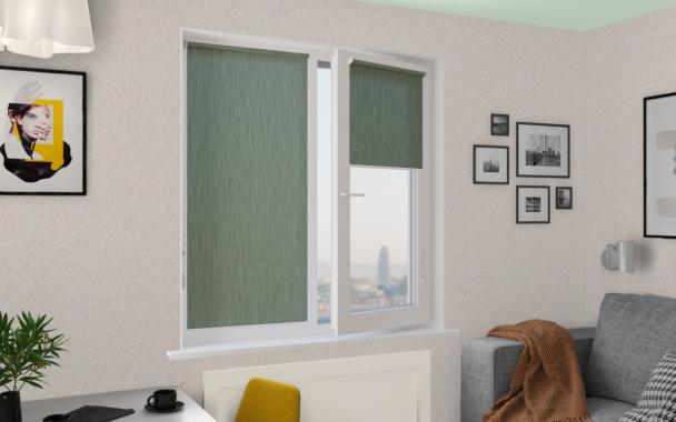 Рулонные шторы MINI НОВА 5850 цв.зеленый