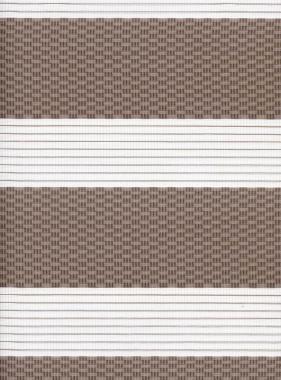Рулонные шторы MGS-ZEBRA ТЕТРИС 2746, тём.бежевый