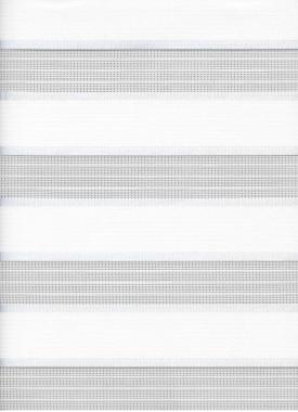Рулонные шторы UNI1-ZEBRA АДАЖИО 0225, белый