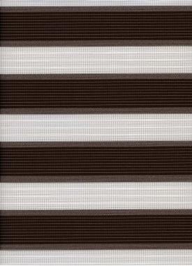 Рулонные шторы MINI-ZEBRA АДАЖИО 2870, коричневый