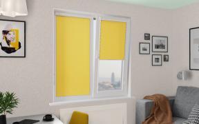 Рулонные шторы UNI2 АЛЬФА 3465 цв.ярко-жёлтый 200см