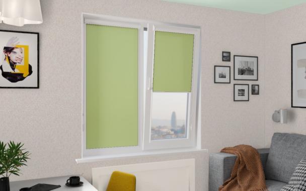 Рулонные шторы UNI2 АЛЬФА 5850 цв.зелёный