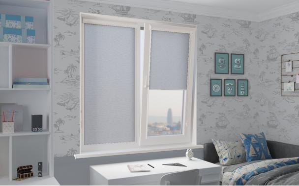 Рулонные шторы СИЛКСКРИН UNI2 1608 цв.серый