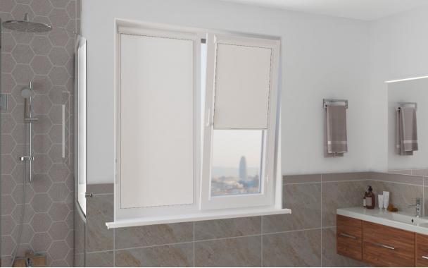 Рулонные шторы ЧЕЛСИ UNI2 0225 цв.белый