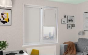 Рулонные шторы UNI1 ЖЕМЧУГ BLACK-OUT 0225 цв.белый, 240 см