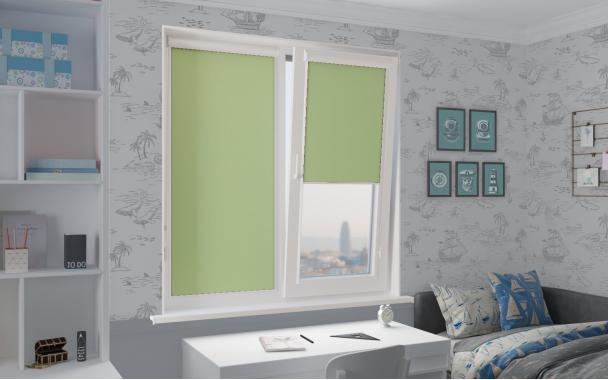 Рулонные шторы UNI2 АЛЬФА BLACK-OUT 5850 цв.зелёный