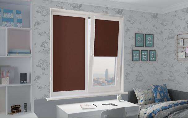 Рулонные шторы UNI1 ОМЕГА 2871 цв.тем.коричневый