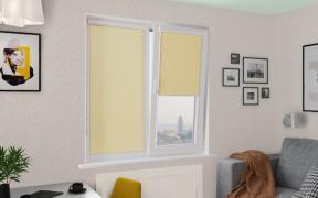 Рулонные шторы UNI1 ОМЕГА 3465 цв.жёлтый, 250см