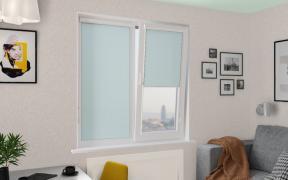 Рулонные шторы UNI1 ОМЕГА 5173 цв.голубой, 250см