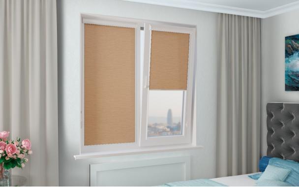 Рулонные шторы UNI2 ИМПАЛА 2868 цв.св.коричневый