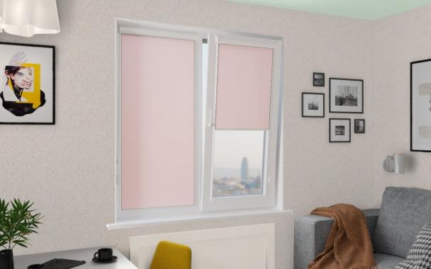 Рулонные шторы UNI2 ПЕРЛ 4080 цв.св.розовый