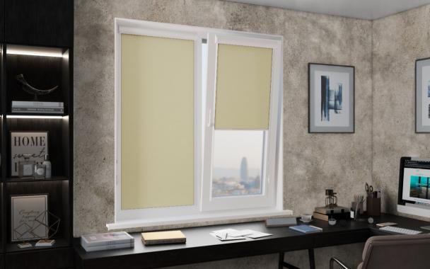 Рулонные шторы UNI1 ПЕРЛ 5879 цв.оливковый