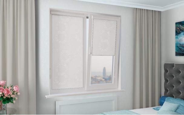 Рулонные шторы ЭЛВИС UNI2 0225 цв.белый