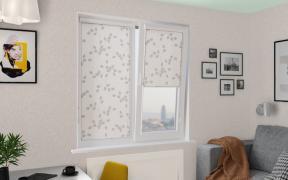 Рулонные шторы UNI2 АЛЛЕЯ 0225 цв.белый, 250см