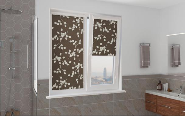 Рулонные шторы UNI1 АЛЛЕЯ 2871 цв.тём.коричневый