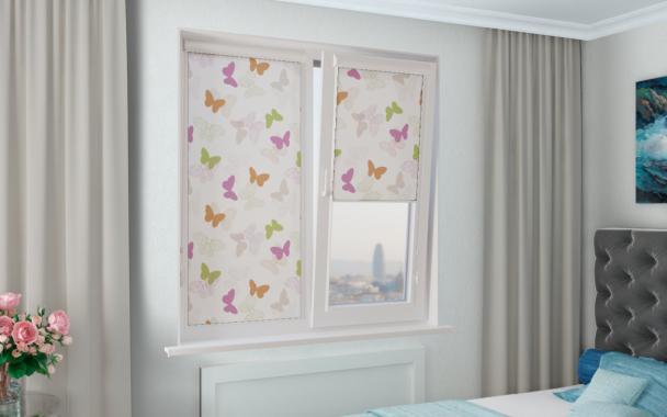 Рулонные шторы UNI2 БАБОЧКИ 4082 цв.розовый