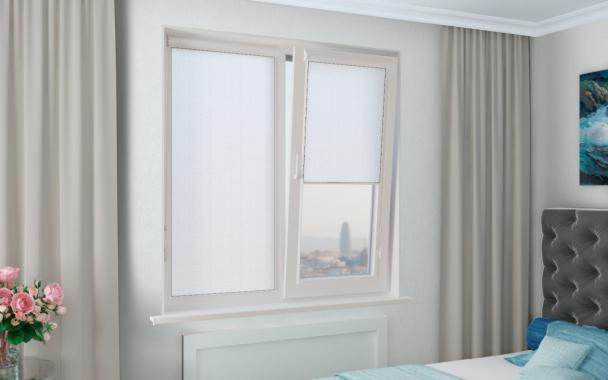 Рулонные шторы UNI1 КРИС 0225 цв.белый