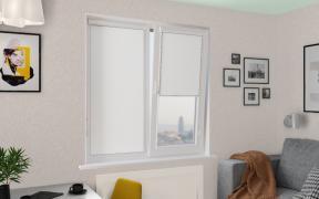 Рулонные шторы UNI2 КРИС BLACK-OUT 0225 цв.белый, 220 см