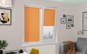 Рулонные шторы UNI1 АЖУР 3499 цв.оранжевый, 220см