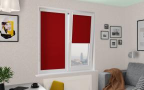Рулонные шторы UNI1 АЖУР 4075 цв.красный, 220 см