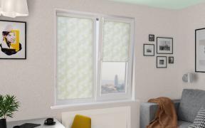 Рулонные шторы UNI1 СКАНДИ 5852 цв.салатовый, 200 см