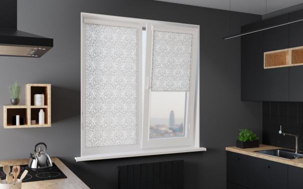 Рулонные шторы UNI1 КАРОЛИНА 0225 белый