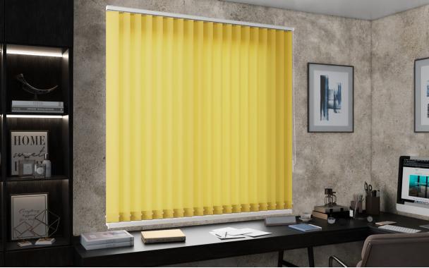 Жалюзи вертикальные ЛАЙН II 3204 цв.жёлтый, 89мм
