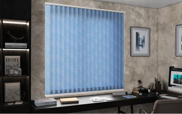 Жалюзи вертикальные БАЛИ 5173 цв.голубой 89мм