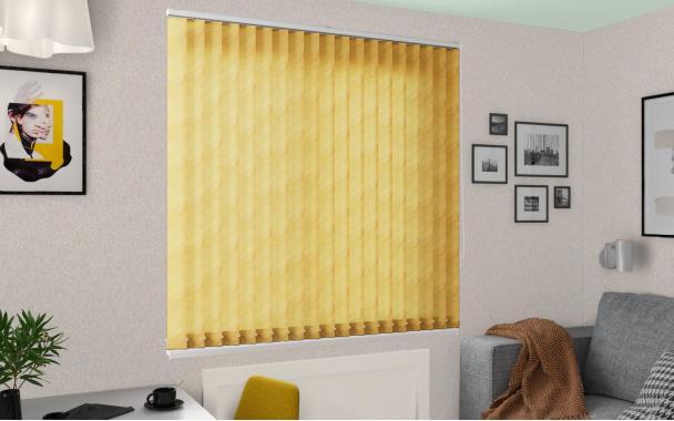Жалюзи вертикальные РИО 3465 цв.жёлтый 89мм