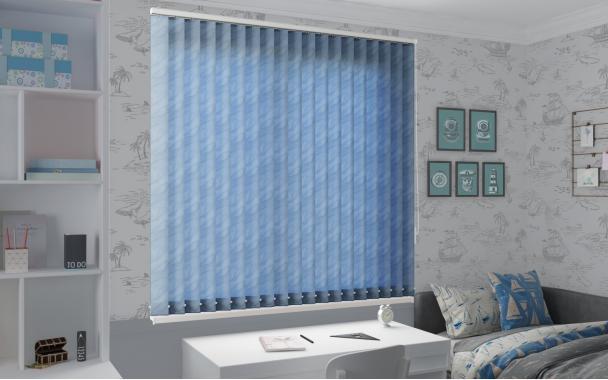 Жалюзи вертикальные РИО 5173 цв.голубой 89мм