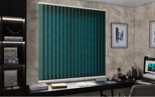 Жалюзи вертикальные РИО 5921 цв.тём.зелёный 89мм