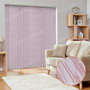 Жалюзи вертикальные ВЕНЕРА 4120 цв.тём.розовый, 89мм