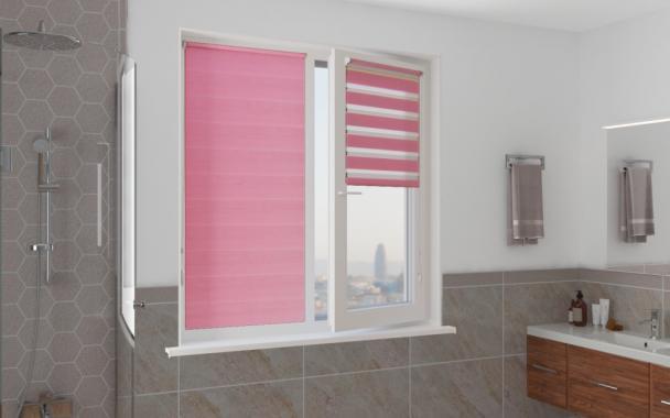 Рулонные шторы MINI-ZEBRA СТАНДАРТ 4096 розовый