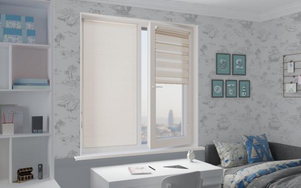 Рулонные шторы MINI-ZEBRA СОФТ 0225 белый