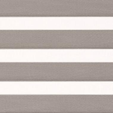 Рулонные шторы UNI1-ZEBRA МЕТАЛЛИК 1881, тем.серый