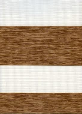 Рулонные шторы MINI-ZEBRA ЭТНИК 2868, св.коричневый