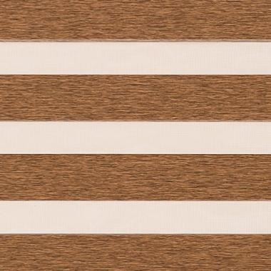 Рулонные шторы UNI2-ZEBRA ЭТНИК 2868, св.коричневый