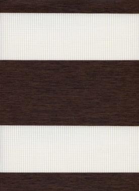 Рулонные шторы MINI-ZEBRA ЭТНИК 2871, тём.коричневый